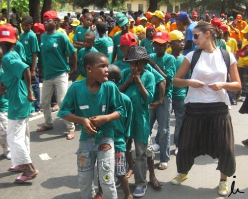 Bailando con los niños en el Dry Run