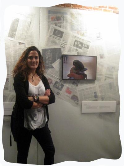 Con mi foto en la expo