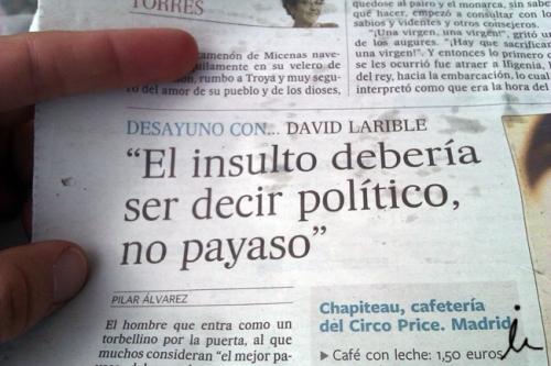 El insulto debería ser decir político y no payaso_blog