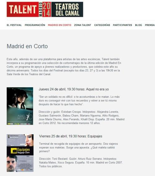 Talent Madrid Programacion