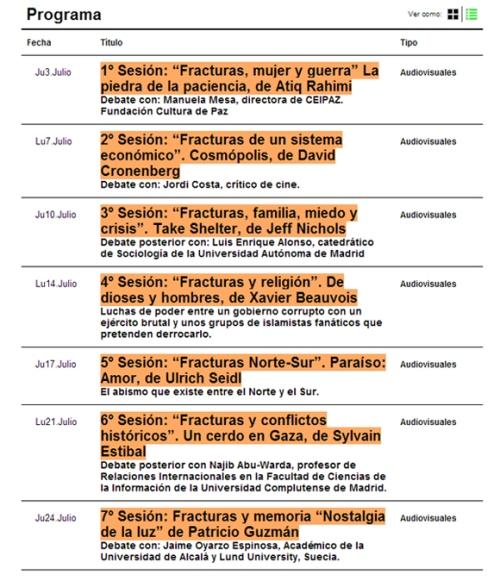 Ciclo cine Fracturas La Casa Encendida
