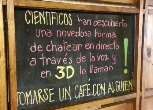 Cartel de cafetería los cientificos han descubierto @Manuel_eboca