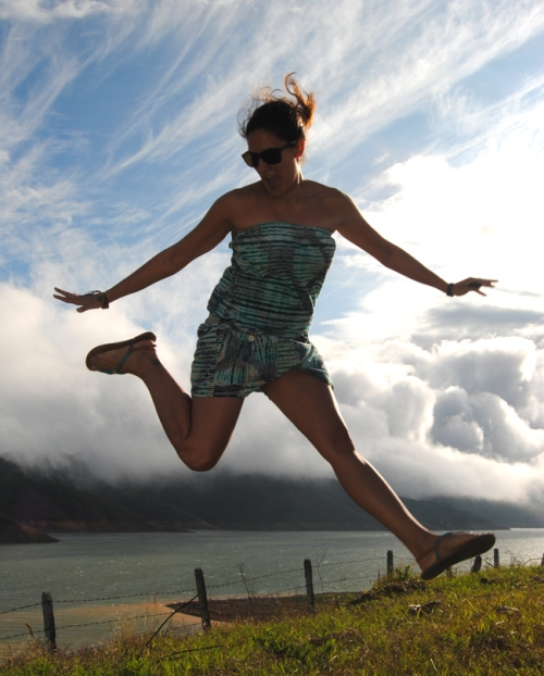 Salto en Lago Calima
